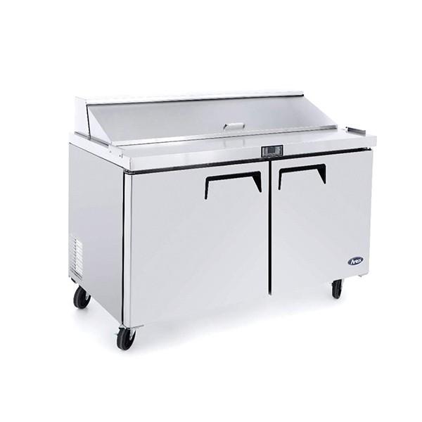 ATOSA MSF Double Door Sandwich Prep Table Refrigerator Mm HKN - Sandwich prep table for sale